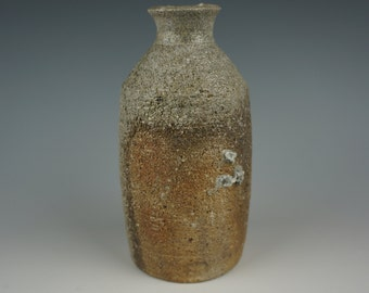 Hikidashi Tokkuri - Bottle - Anagama Wood Fired - Raw Ash Glaze