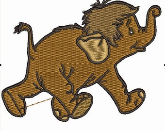 Embroidery Design - Disney Jungle Book - Baby Elephant - Many formats PES, DST, JEF etc 4 x 4 Hoop Size