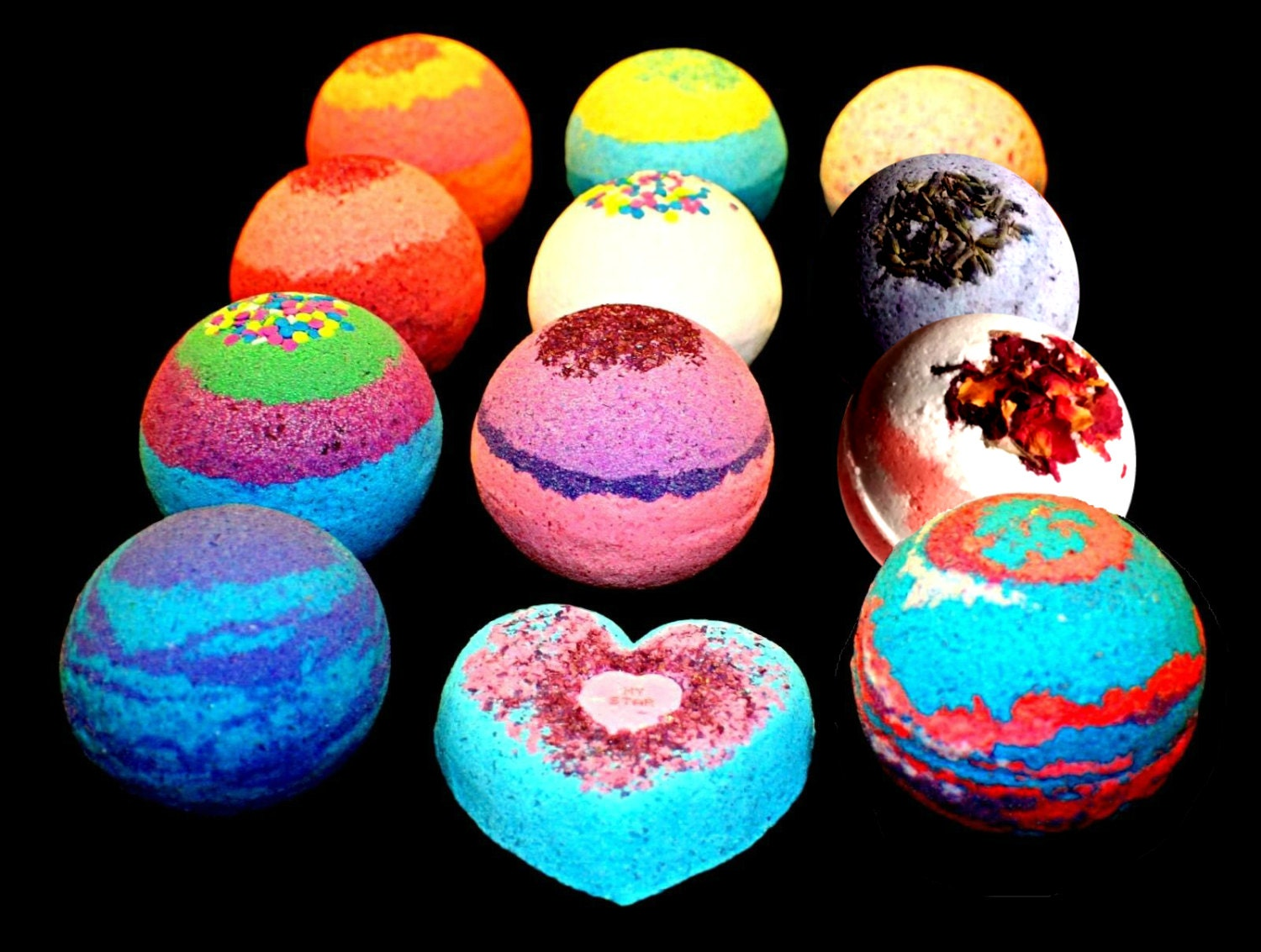 9 Bath Bombs Pack Gift Set Assorted Scent or Mix and Match