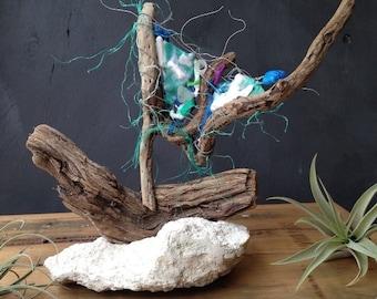 Driftwood, Rustic, Sailboat, Sculpture, Coastal, Decor, Nautical, Boat