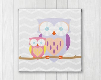 Owl, Canvas Nursery wall art and decor