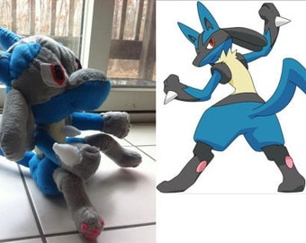Custom Stuff Toy Lukario Pokemon