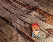 Steve Zissou Wood Pin, Life Aquatic Bill Murray Wooden Button