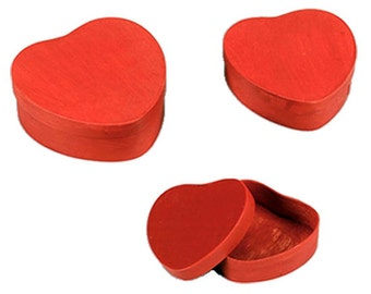 Heart Shaped Wooden Boxes: TJ05-98534
