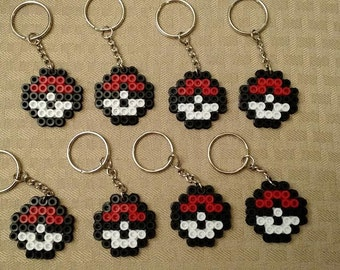 Pokemon party favors - Set of 8 Pokeball keychains