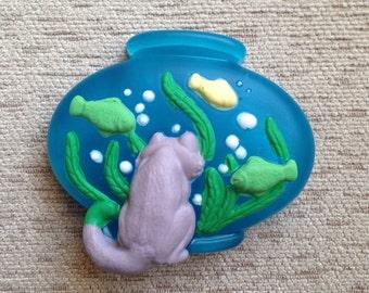 """Handmade Soap """"Cat and Aquarium"""""""