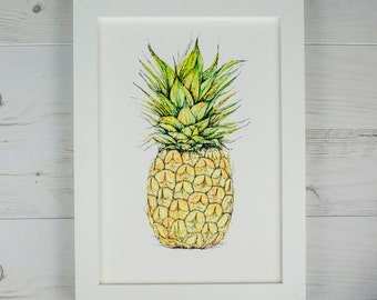 Pineapple, Limited Edition Fruit Print