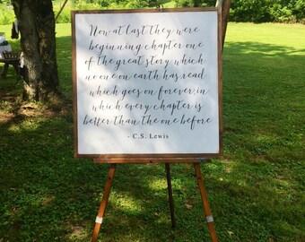 C.S. Lewis Wood Quote Sign   Wedding Decor