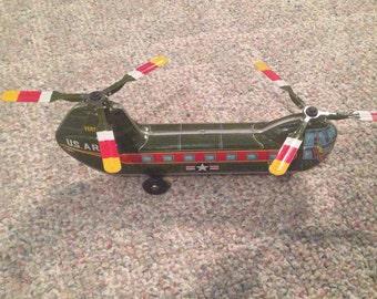 Haji US Army Vertol 107 Tin-Litho toy Helicopter