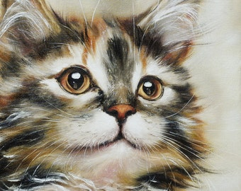 Maine Coon kitten Oil painting cat