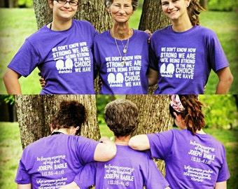 Alzheimer's Awareness - Purple Elephant - End Alz  - In Memory of Dad / Mom / Grandma / Grandpa / Husband / Wife / daddy - Dementia - Custom