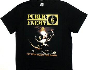 PUBLIC ENEMY T-SHIRT Yo! Bum Rush The Show