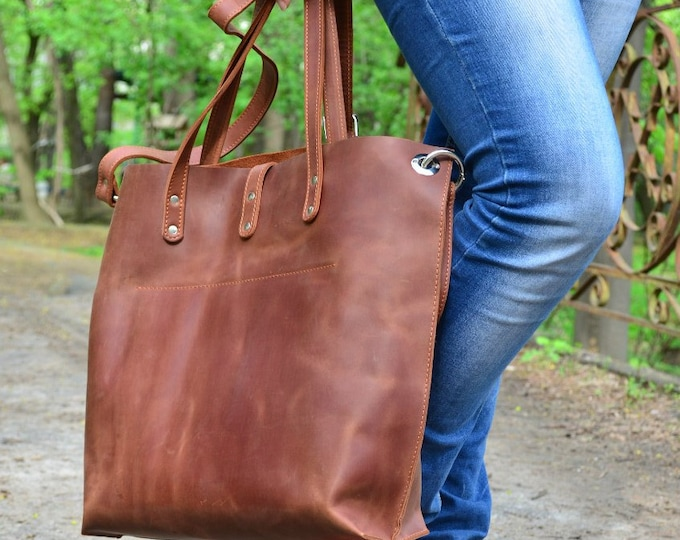 Leather Shoulder Bag + Leather Crossbody Bag + Leather Bag + Leather Tote Bag + Leather Purse + Handmade Leather Handbag +Leather Laptop Bag