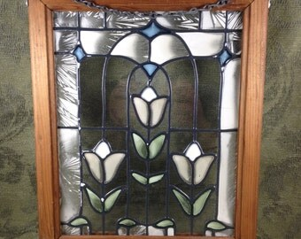 Stained Glass Hanging Picture Frame
