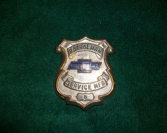 Vintage General Motors Security Badge