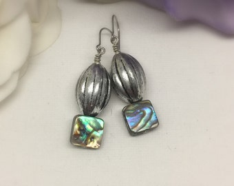 Sweets - Silver and Abalone Shell earrings
