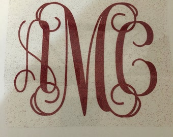 DIY Iron On Monogram