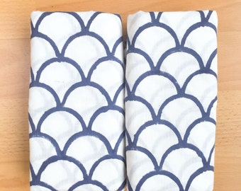 Anora Cotton Baby Swaddle Blankets (Set of 2); Organic Cotton; Soft and Lightweight; Breathable; Durable and Eco Friendly