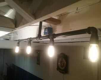 Beautiful Industrial Lighting, Steam Punk Lighting, Industrial Chandelier, Ceiling  Light, Man Cave Light