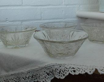 Cut Glass Dessert Dishes