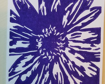 Daisy Handmade Card (Purple)