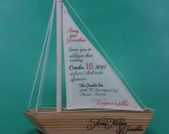 Sailboat Invitations #B512 (Sample) / Wedding Invitations, Unique Invitations, Unique Wedding Invitations, Handmade Invitations