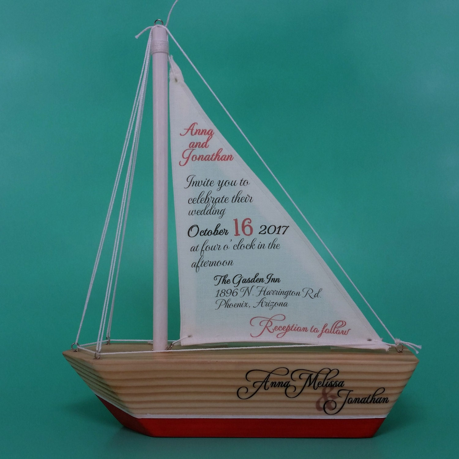 Sailboat Invitations B512 Sample / Wedding Invitations