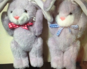 Two Stuffed Craft Bunnies