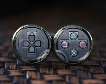 Game Controller cufflinks, Video Game Controller cufflinks, Controller cufflinks, gamepad cufflinks, Geekery geek cufflinks, gamer cufflinks