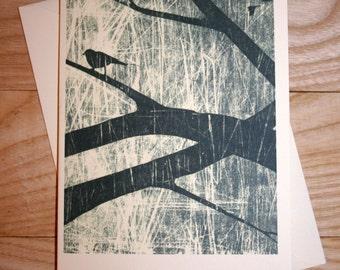Little Bird Digital Art Print Card