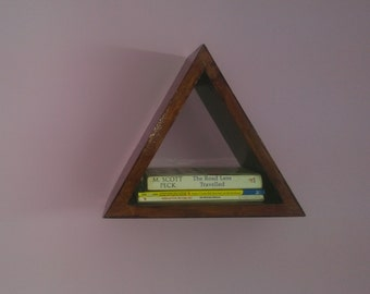 Triangle shelves, display unit, Wall shelf, Modern decor