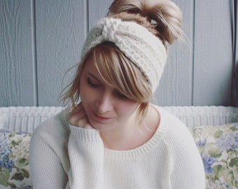 The Pearl    Hand Crocheted Ear Warmer Head Band