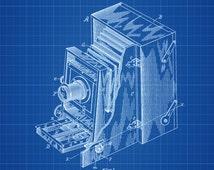 Photo Camera Patent - Patent Print, Wall Decor, Photography Art, Camera Art