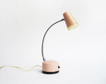 vintage mid-century pink adjustable table light