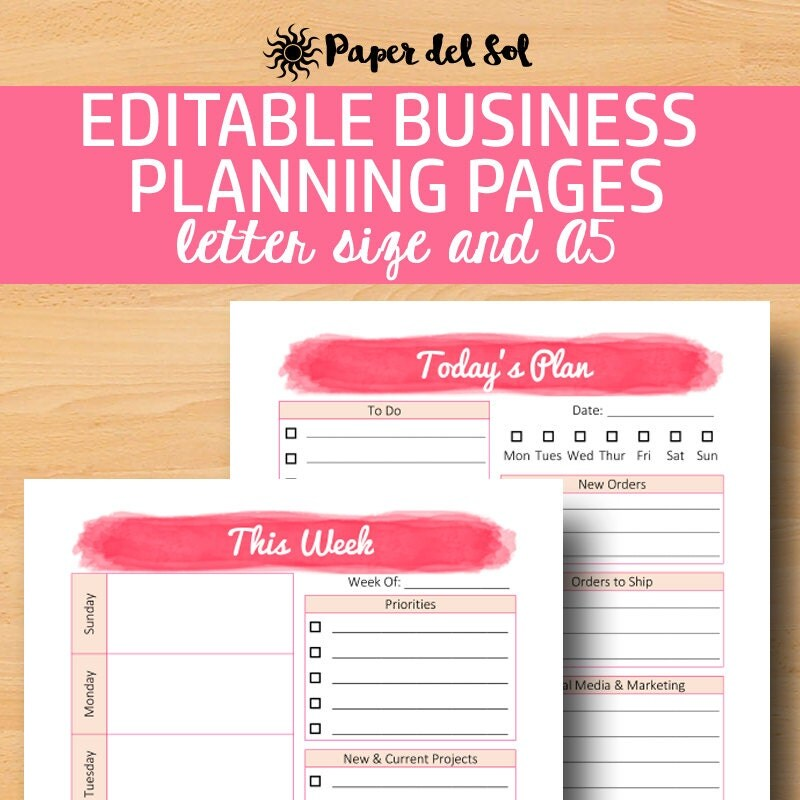 Direct Sales Planner A5 Business Planner Printable Business