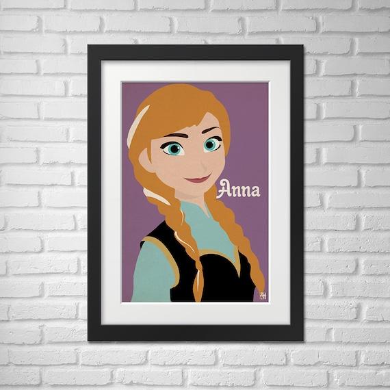 Frozen Movie Poster Anna /Frozen Movie Poster / Frozen / Anna