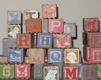 vintage childrens blocks