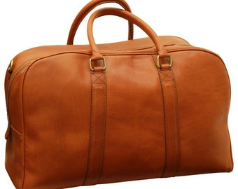 Soft Calfskin Leather Travel Bag Old Angler (305)