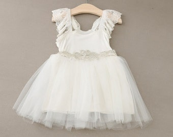 Flower girl, Christening, Vintage style dress