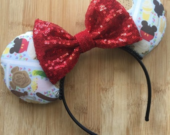 Snack Food Ears, Mouse Shaped Food Ears, Snack Ears, Snack Food Mouse Ears, Minnie Ears, Disney Ears, Mickey Snack Ears