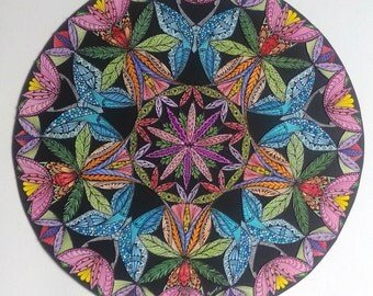 Mandala: Five butterflies / Mandala, Five butterflies