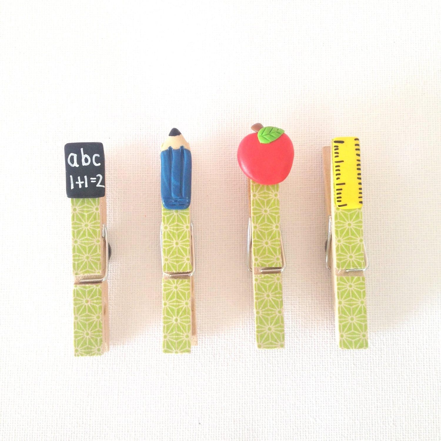magnetic peg memo holders polymer clay teacher by