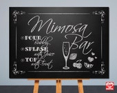 Printable Wedding Sign | Mimosa Bar Sign | Chalkboard Sign | Card Table Sign | 8x10, 5x7 | Instant Download | Signage,Decor | JPG |