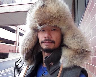 Fur hat fox Coyote Wolf