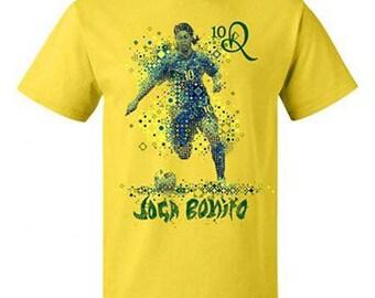RONALDINHO Joga Bonito Barcelona Brasil Football Soccer Legend Tee T SHIRT NEW