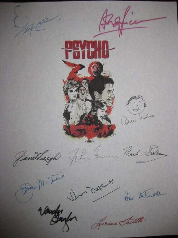 Psycho Signed Film Movie Screenplay Script X11 Autographs Alfred Hitchcock Anthony Perkins Vera Miles Janet Leigh John Gavin Martin Balsam