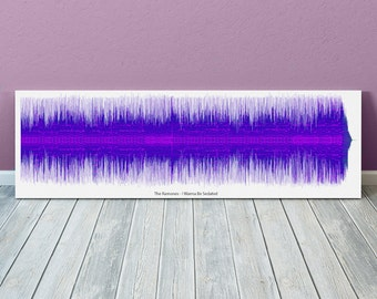 I Wanna Be Sedated Sound Wave Art Inspired By The Ramones - 24x8 Inch Canvas, Poster or Digital Image - Free P&P