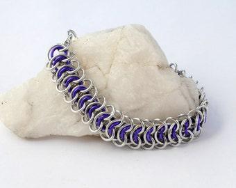 Vertebrae Chain Maille Bracelet // Chain Maille Jewellery // Kingscale bracelet // Custom options