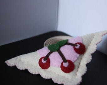 Handmade pincushion, cherry turnover pincushion, sewing notion, sewing gift, pin cushion