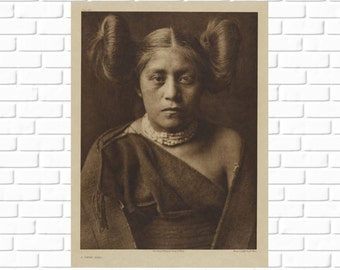 A Tewa Girl - Pueblo - Frank Rinehart - 1921 - Photo - Print - Photography - Vintage - Native American - Photograph - Antique - History